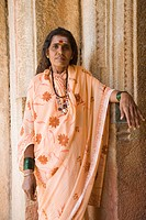 Portrait of a woman, Hampi, Karnataka, India