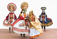 Four people kathakali dancing