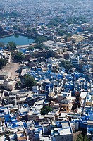 Aerial view of a city, Jodhpur, Rajasthan, India