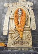 Statue of Buddha in a temple, Mahabodhi Temple, Bodhgaya, Gaya, Bihar, India