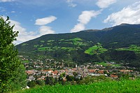 View to the city of Brixen from above, Brixen, valley of Eisack, South Tyrol, Italy