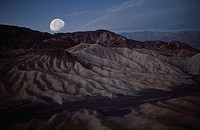 Zabriskie Point at night, Death Valley National Park, California, USA