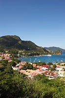 Aerial view at Terre_de_Haute, Les Saintes Islands, Guadeloupe