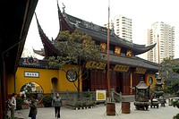 Jade Buddha Temple, courtyard, Jade Buddha Temple, Shanghai