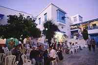 Street cafes in Sidi Bou Said, Tunesia