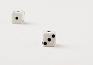 Close_up of two dices