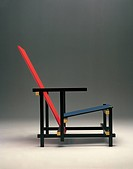 Gerrit Thomas Rietveld Red and Blue Armchair, 1918.