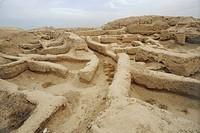 Syria - Mari. Remains of Palace of Zimrilim