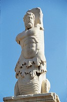 Low angle view of a statue, Triton, Agora, Attica, Athens, Greece