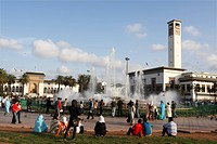 Africa, North Africa, Morocco, Casablanca, Place Mohammed V, Old Police Station