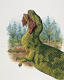 Palaeozoology - Jurassic Period - Dinosaur - Eustreptospondylus (illustration by Stephen Message)