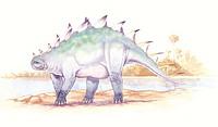 Palaeozoology - Jurassic period - Dinosaurs - Dacentrurus - Art work