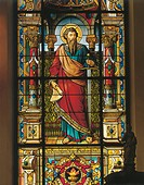 Sweden - Stockolm. German Church. Stained glass, 19th century