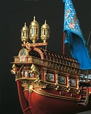 Model of the La Real, flagship used in the Battle of Lepanto, Spain, 16th century.