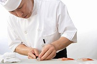 Sushi Chef with Santa Barbara Spot Prawn