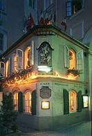 Austria - Salzburg. Café Restaurant. Night view