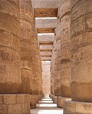 Egypt - Ancient Thebes (UNESCO World Heritage List, 1979). Luxor. Karnak. Great Temple of Amon. Hypostyle hall. New Kingdom, 2nd millennium BC.