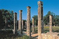 Greece - Western Greece - Olympia. Gymnasion (2nd century b.C.) and Palaestra (3rd century b.C.)