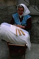 Italy - Molise Region - Sannio - Isernia - Lace Pillow Production