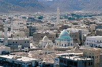 Yemen - Hadramawt province - Saywun. View of the city from Sultan Palace