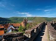 Germany, Baden_Württemberg, Neckargemünd, Feste Dilsberg, community, district, mountain fastness, Neckar_valley, Odenwald, Rhine_Neckar_circle, view, ...