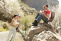 spain, mountain_hiking, tourists, hikers, pause, nature