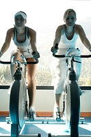 Athletes, spinning, fitness, interior