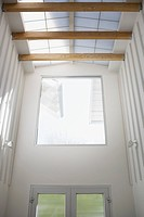 Interior of modern house, entrance, skylight