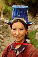Ladakhi woman in the village of Alchi Ladakh, India