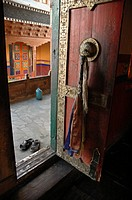 A doorway at Tiksey Monastery Tiksey, Ladakh, India
