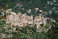 The picturesque village of Le Broc into the Var valley Alpes Maritimes 06 PACA French Riviera France