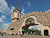 Entrance to Moscow Zoo, Moscow, Russia