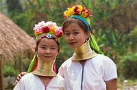 Asia, Thailand, Rai, Long Neck Hilltribes, Young Woman, Girl