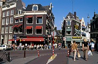 Street scene in downtown Amsterdam, The Netherlands