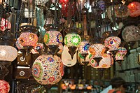 Colorful Lamps, Grand Bazaar Kapali Carsi, city, t