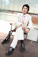 Businessman sitting a chair