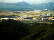 Hong Kong International Airport, Chek Lap Kok, Hong Kong, Aerial view