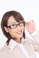 Business lady wearing glasses