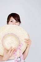 Straw hat and woman
