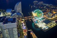 Ferris wheel and Minatomirai buildings