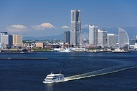 Mt. Fuji and Minato Mirai Buildings