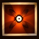Low angle view of ceiling fan lamp
