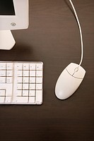 Still life of computer monitor, keyboard and mouse (thumbnail)