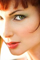 Close up portrait of attractive Caucasian woman