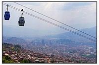 cable lift above Medellin, Colombia
