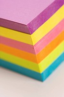 Stack of colorful sticky notes (thumbnail)
