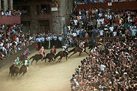 europe, italy, tuscany, siena, palio race, the casato curve