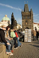Czech Republic. Prague. Charles´ Brigde over Moldava river at old town.