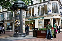 People at New Street, a pedestrian street with many shops  Birmingham, England, UK