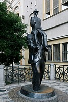 Franz Kafka Monument, Josefov, Prague, Czech Republic